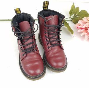 Doc Marten burgundy Delaney kids boot size 1